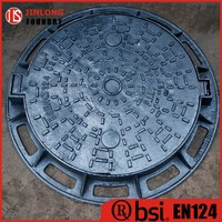 EN124 high quality sewage cast iron manhole cover &gully grate