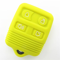 Hot sale 4 buttons silicone car key cover in Blue for ford F-150, Mustang, Edge, Explorer,