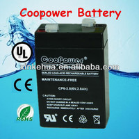 China manufacturer Rechargeable sealed lead acid battery 6v2.8ah