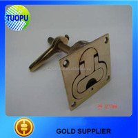 Hot Sale Mirror Polishing Bronze Casting Turning Lock Lift Handle For Boat