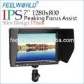 Feelworld novo Design Slim 7 polegada DSLR Camera monitor com mola de carga braço entrada HDMI
