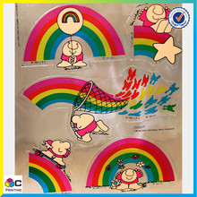 Factory supply hot sale self adhesive epoxy sticker kids room decorative wall stickers