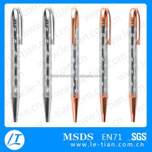 LT-Y1081 heat transfer metal ball pen, sliver hot stamping pen