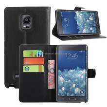 High Quality Leather Wallet Flip Cover Case with Stand for Samsung Galaxy Note Edge