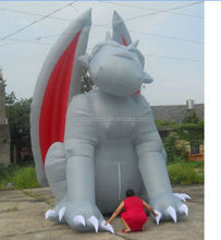 Giant monster Animal Inflatable Advertising Products Gray Color Customized