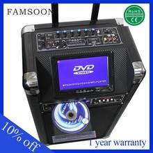 10 inch 30w fm portable portable dual screen dvd player
