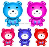 Custom shaped kids toy big bear mylar balloon