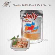 Stand up wet pet food retort pouch