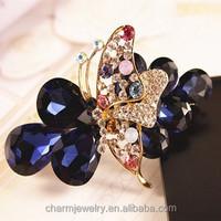 South Korean imports of butterflies fluttering over drilling diamond hairpin top folder manually hair barrette XN038