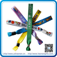 2012 beautiful fabric polyester wristbands for events