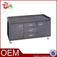 knock down structure panel furniture melamine low cabinet with metal legs