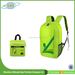 Promotion Light Weight Travel Foldable Backpack, Nylon Waterproof Backpack