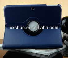 360 Rotating litchi case for 10.1 inch tablet case for samsung galaxy tab 3