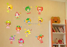 Home decoration color fruits free wall sticker.laptop sticker