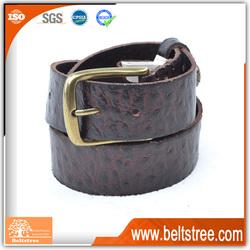 Embossed designer fashion wide genuine leather belt straps
