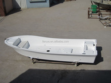 Liya 5.8m outboard motor boat open floor panga boat fiberglass dinghy for sale