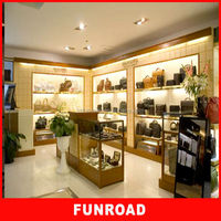 Elegant design store fixtures shelves for Louis Vuitton purse for hot sale