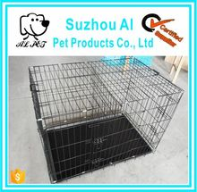 "New Black 20"" Pet Folding Suitcase Crate Kennel W/ABS Tray Dog Cage"