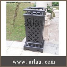 papelera de reciclaje de metal basura contenedor de lata (Arlau BS55)