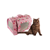 heart pattern pet bag transport carrier pink color two styles