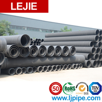 8 inch large diameter plastic pe corrugated yellow drain pipe