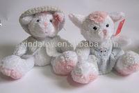 Cute white bunny stuffed plush toys