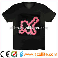 2013 fashion sexy woman sound effect led light tshirts