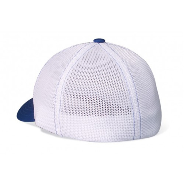 custom flat bill black and white baseball flexfit hat mesh