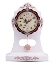 White Table Pendulum modern style brass antique skeleton clock models with Seiko Movement