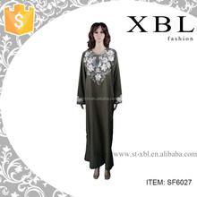 simple modern abaya islamic black clothing SF6027
