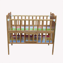 2014 new item high quality carbonized color adjustable folding baby bed