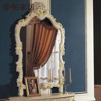 hand carved wood antique mirror frames - handcraft solid wood leaf gilding mirror