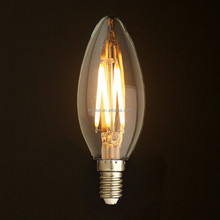 China Supplier High Lumens&Brightness Dimming Led Filament Candle Light Bulbs C35 4W E14/E27