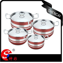 Hight quality capsuled bottom stainless steel cookware set