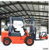 general industrial equipment LPG and gasoline dual fuel forklift with steering axle