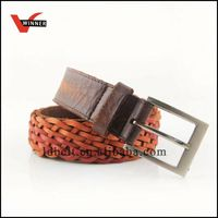 Customized durable horse hide leather belt