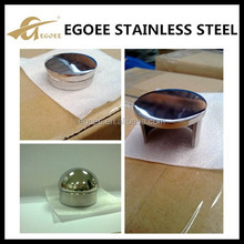 304 stainless steel end cap for handrail post