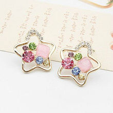2014 New wholesale Korea Jewelry Latest Fashion Earring,Star Stud Earring E6715