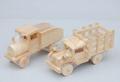 Unfinished pequeno caminhão de madeira para criança, brinquedo de madeira