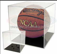 ballqube grand stand basketball holder acrylic display case(footballs volleyballs)