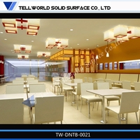 Wholesale! Pure color white modern fast food restaurant furniture