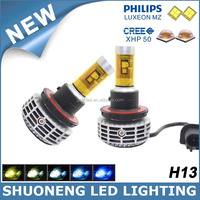 Headlight Type Five Colors 3000lm Super Bright Car 9008 H13 LED Head Bulb