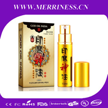 Free Shipping GOD OIL INDIA Male Delay Spray, sex product For Men