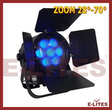 LED zoom&wash led flat par can light, 7*25W barn door led power parcan light, rgbw 4in1 wash par light