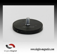 Factory direct neodymium rubber coated silicone magnet with a M4 thread rod