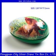 Easter egg tin box/decorative candy tin