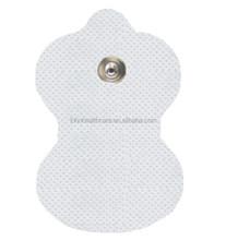 Tens unit electrodes for snap button