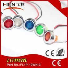 Beautiful 10MM Plastic 24v pilot light parts With 20cm Cable