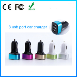 Multi function gps tracker with cigarette lighter and 3 port usb car charger for child electric car