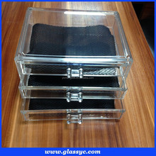 Pop up cosmetic case storage insert holder box